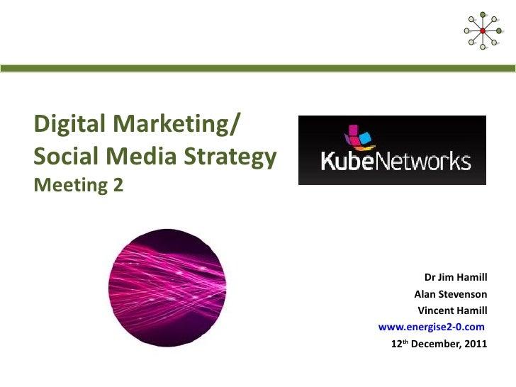 Digital Marketing/Social Media StrategyMeeting 2                                Dr Jim Hamill                             ...