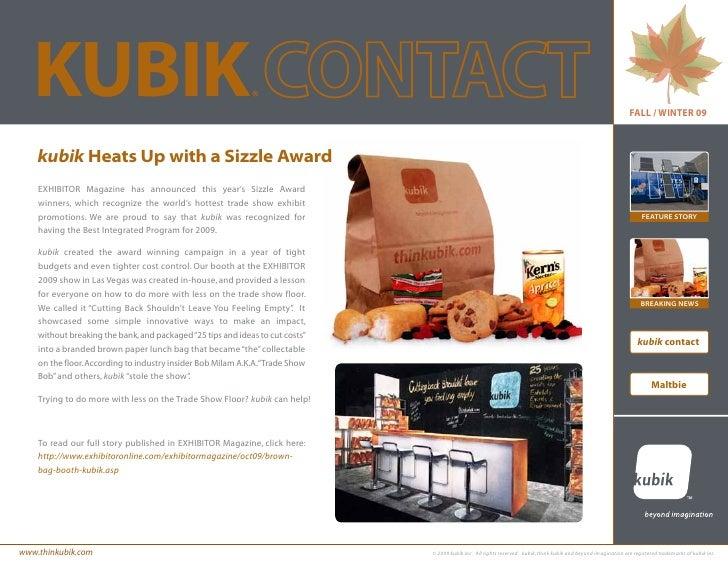 Kubik Contact fall/winter 2009 edition