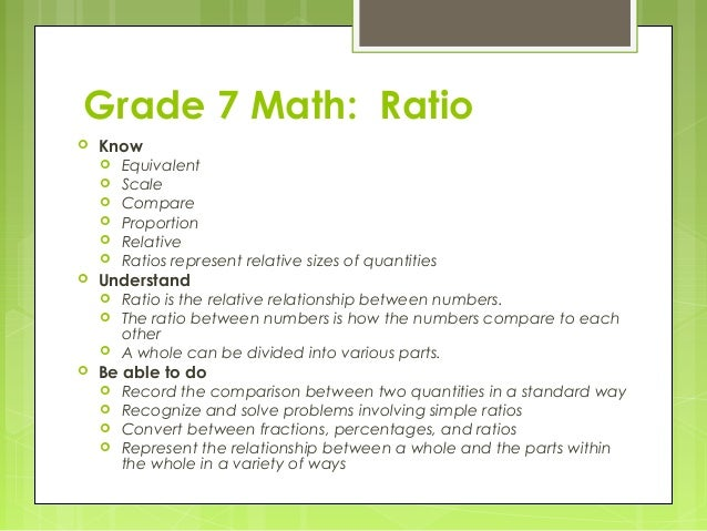 Solve Ratio Problems