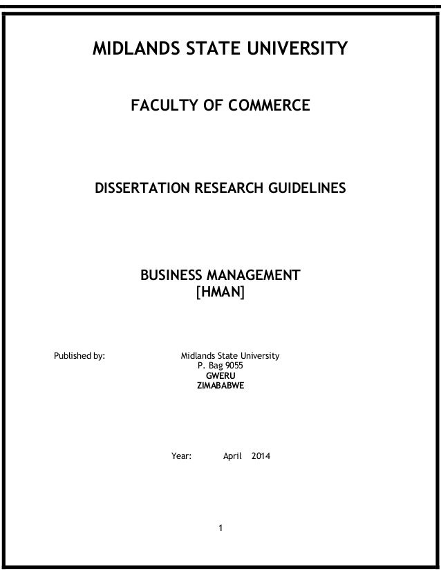 Countryside management dissertation