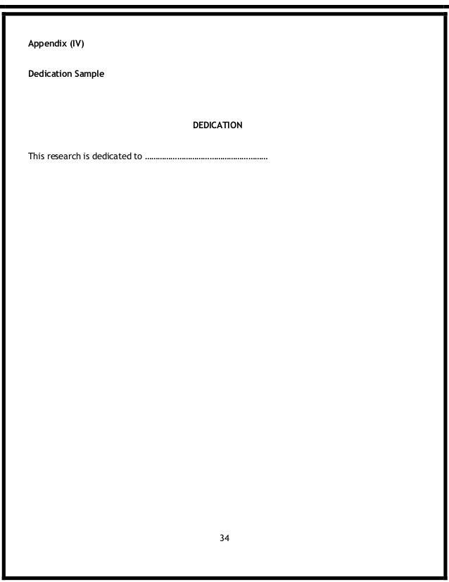 Dissertation dedications