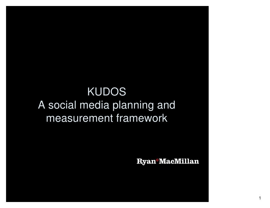 KUDOS A social media planning and  measurement framework                                   1