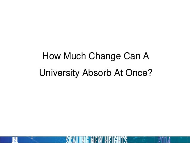 How Much Change Can A University Absorb At Once? 1