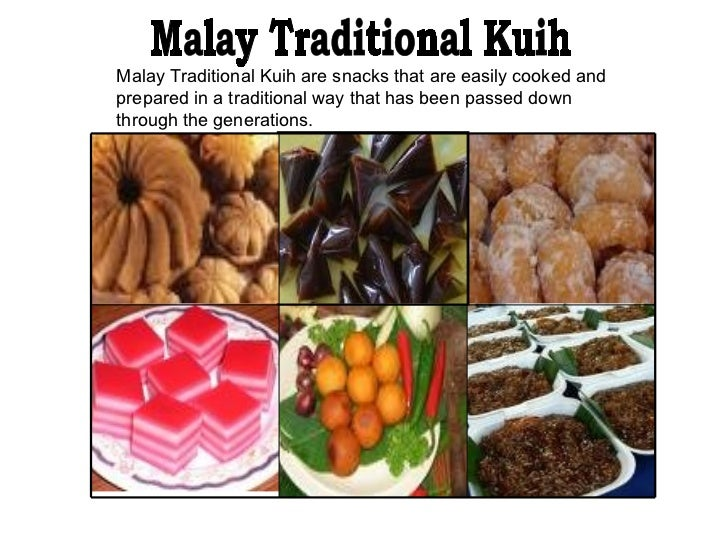 Malay Traditional Kuih are snacks that are easily cooked and prepared in a traditional way that has been passed down throu...