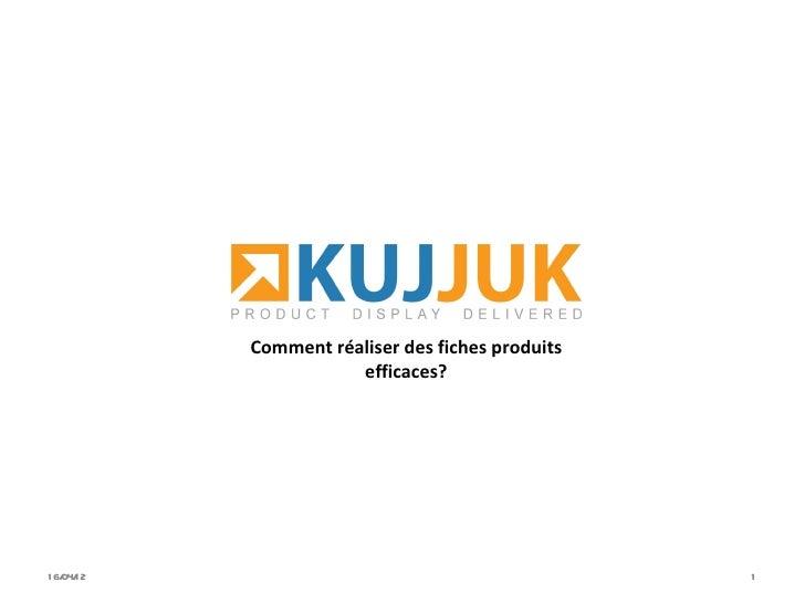 KUJJUK - Solution globale de présentation de produits - fiches produits conférence b-Ecommerce