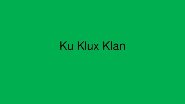 essays for ku klux klan