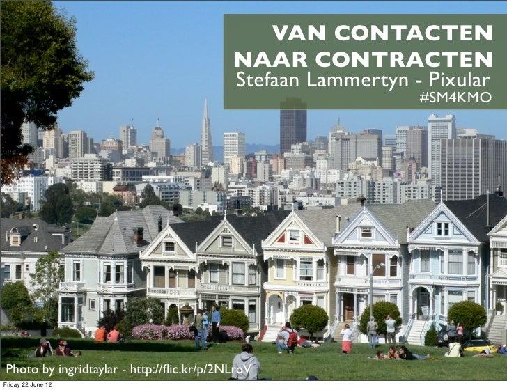 Van contacten naar contracten. Sociale media en vastgoed, vast goed !