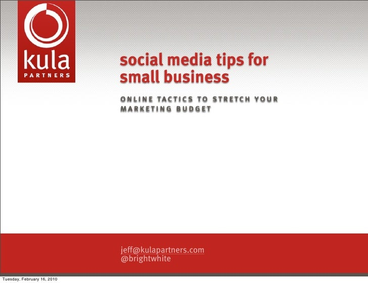 social media tips for                              small business                              o n l i n e t a c t i c s t...