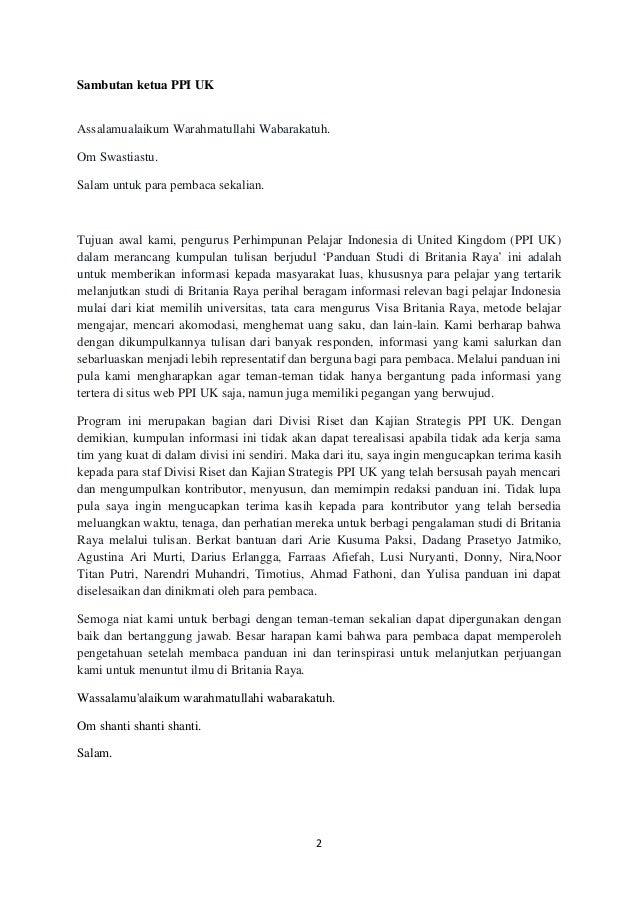 contoh resume letter bahasa indonesia