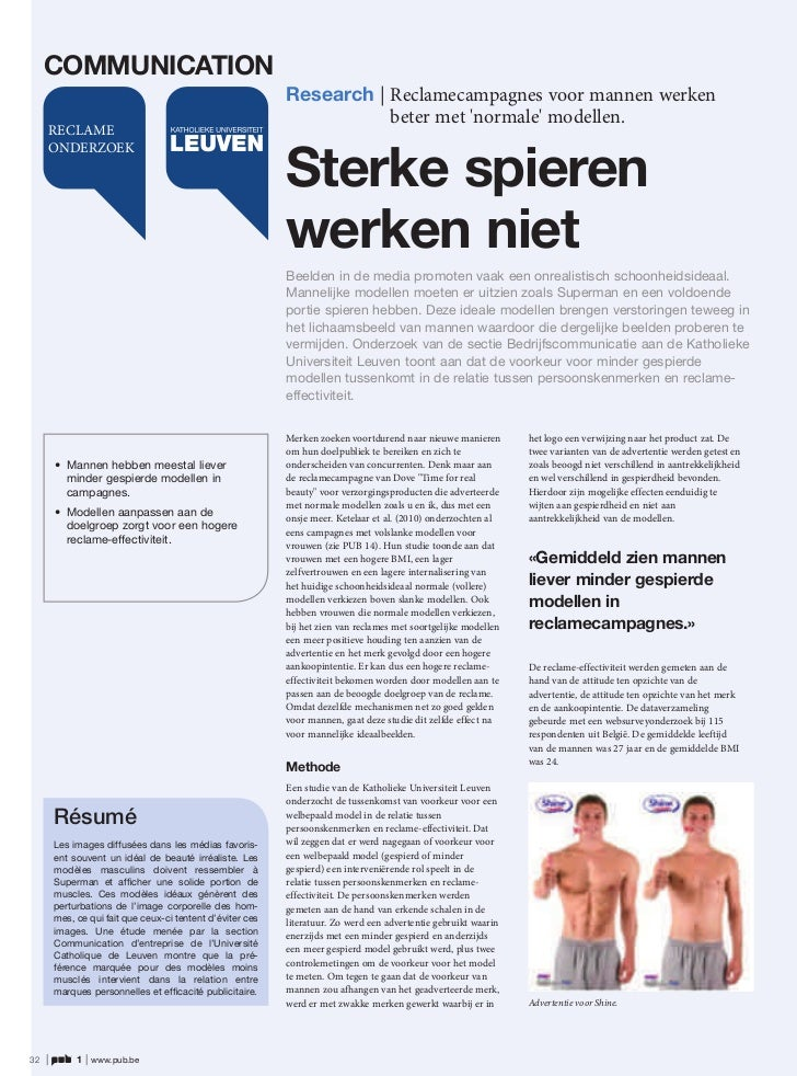 COMMUNICATION                                                             Research | Reclamecampagnes voor mannen werken  ...