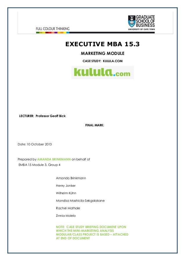 KULULA.COM - Case study Mini In-Class analysis - HAVING A BIT OF FUN WITH AN HISTORICALLY BASED CASE STUDY FOR ANALYSIS
