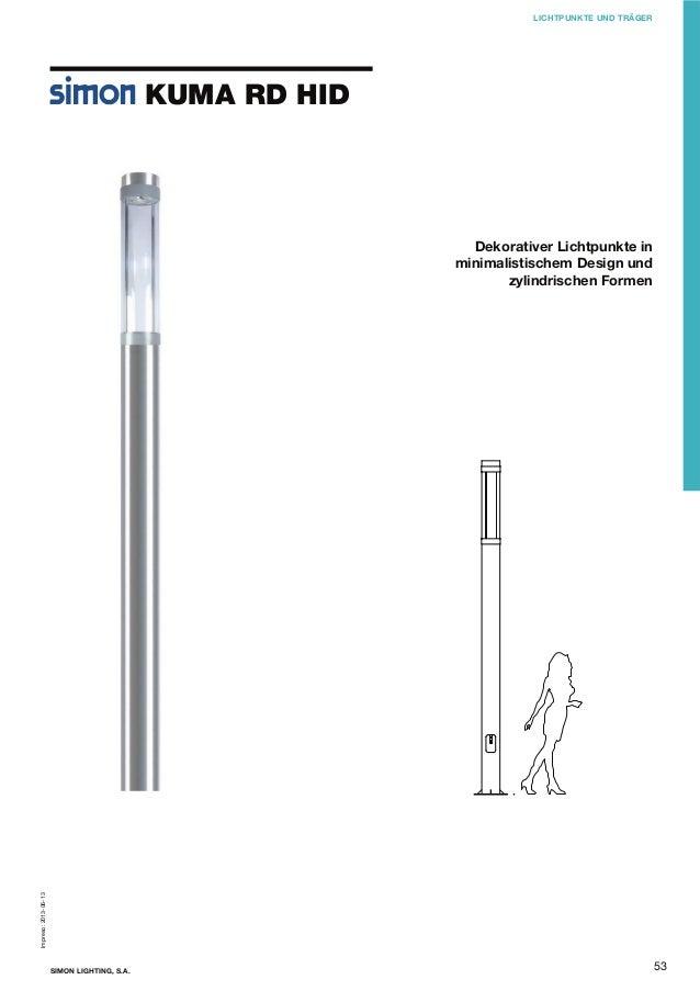 LICHTPUNKTE UND TRÄGER  KUMA RD HID  Impreso: 2013-06-13  Dekorativer Lichtpunkte in minimalistischem Design und zylindris...