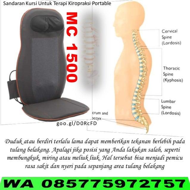 MC1500 Sandaran Kursi Untuk Terapi Kiropraksi Portable goo.gl/D0RcFD Duduk atau berdiri terlalu lama dapat memberikan teka...