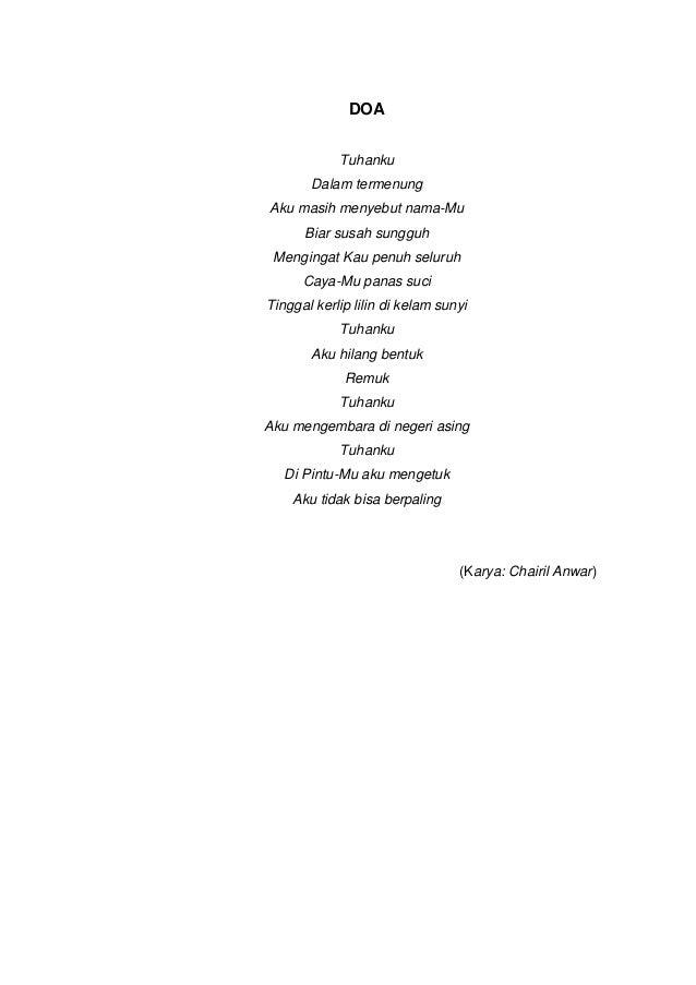 Kumpulan puisi dan unsur intrinsiknya