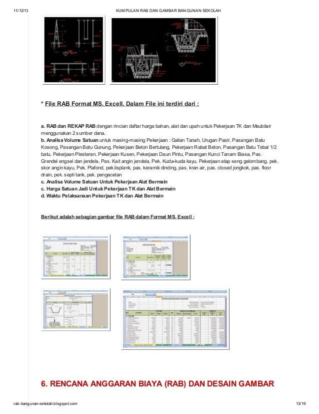 kumpulan rab dan gambar bangunan sekolah di blog http