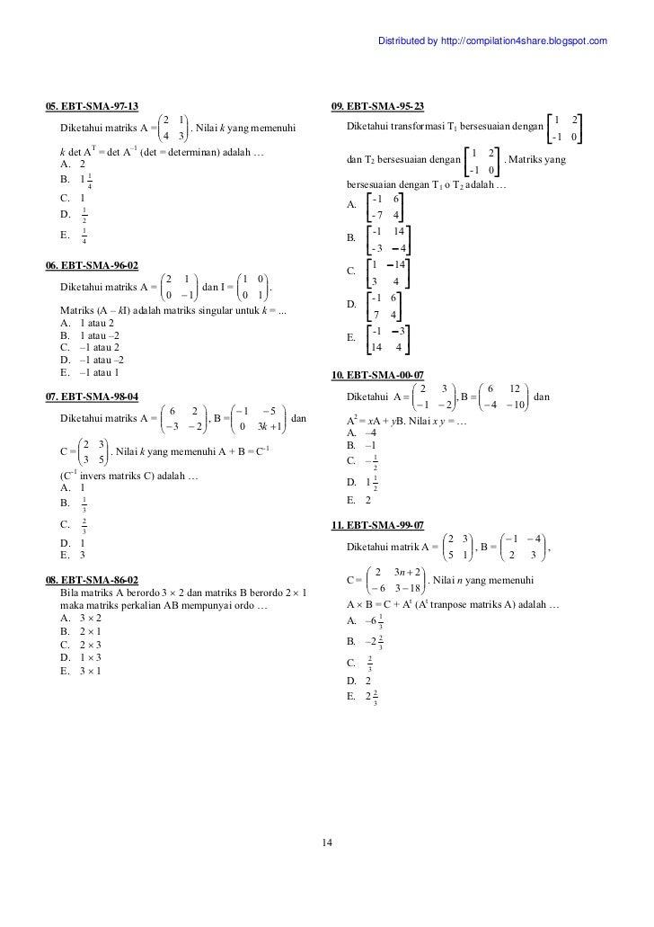 Soal Ujian Sd Nasional 2015 Kelas Matematika Nasional 6 Ujian Soal Pembahasan Smp Dan Un