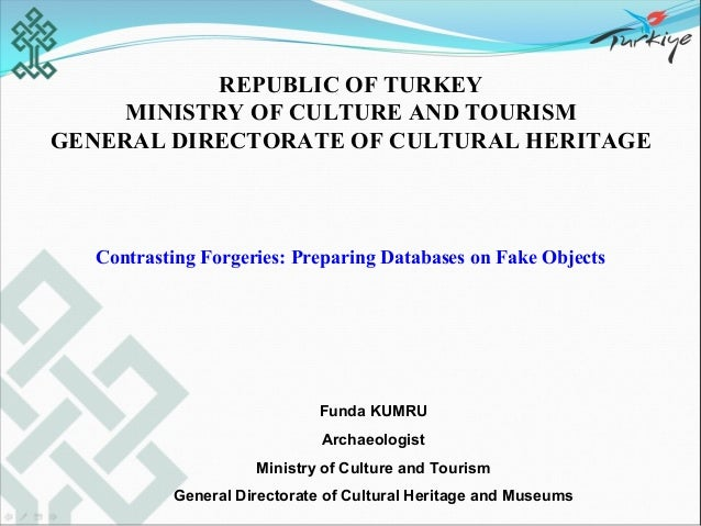 Funda Kumru - Contrasting Forgeries: Preparing Databases on Fake Objects