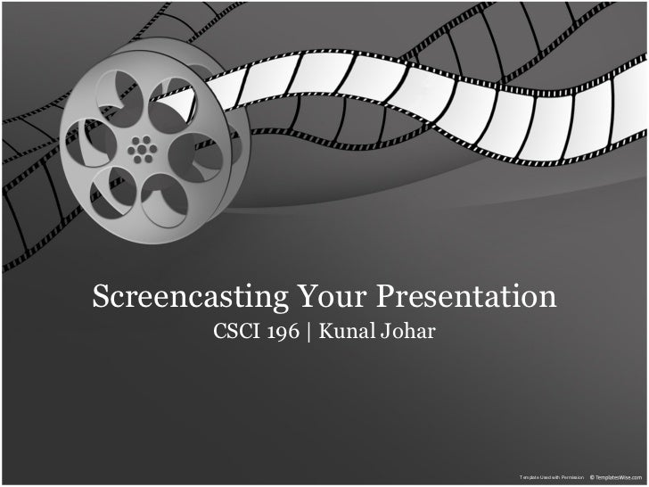 Screencasting and Presenting for Engineers