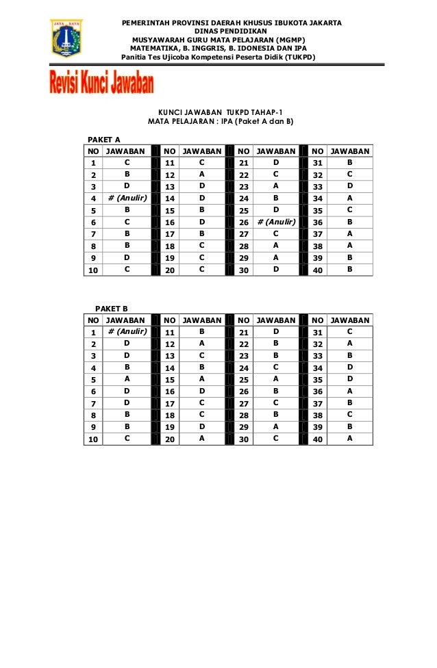 Kunci Jawaban Tukpd I Tahun 2013 Kode A Dan B