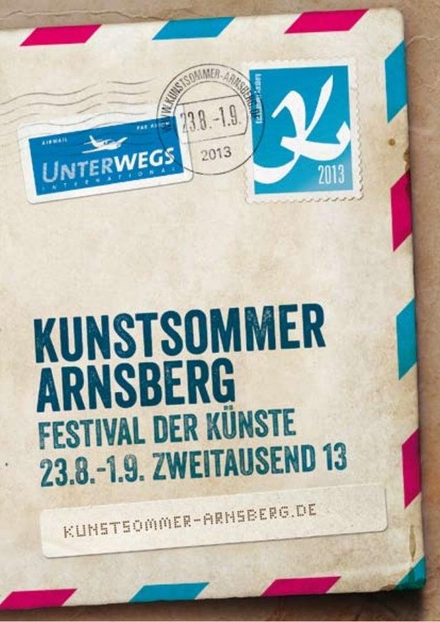 2 kunstsommer-arnsberg.de Impressum Impressum HerausgeberStadt Arnsberg - Kulturbüro in Kooperation mit dem Verkehrsvere...