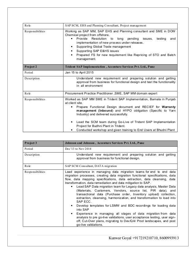 sap release management resume 28 images resume sap mm