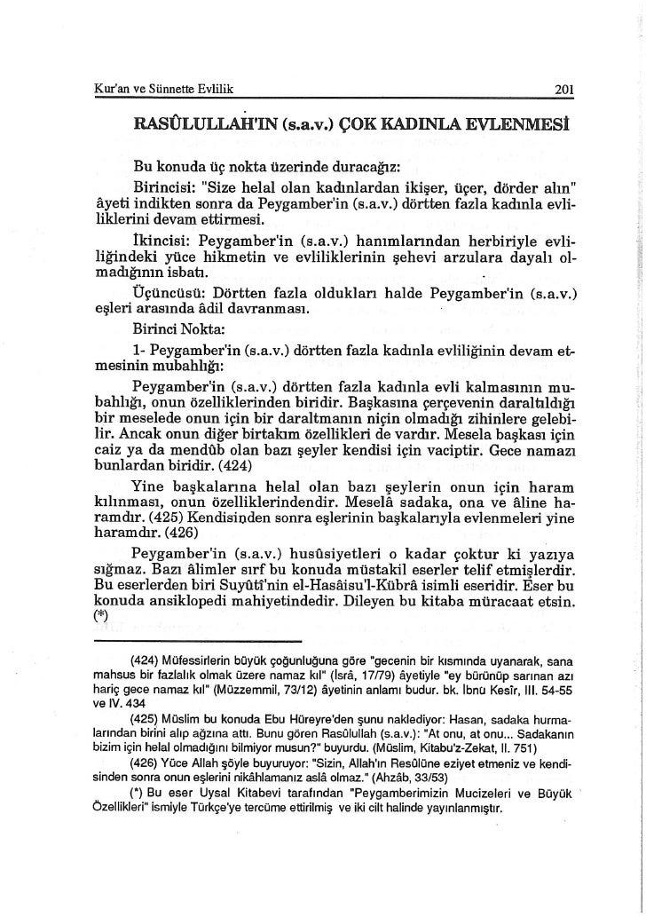 Kuran Ve SüNnette Evlilik Dr Muhammed Ebun Nur 201 300