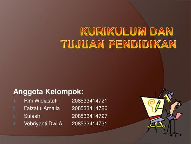 Anggota Kelompok:1.   Rini Widiastuti     2085334147212.   Faizatul Amalia     2085334147263.   Sulastri            208533...