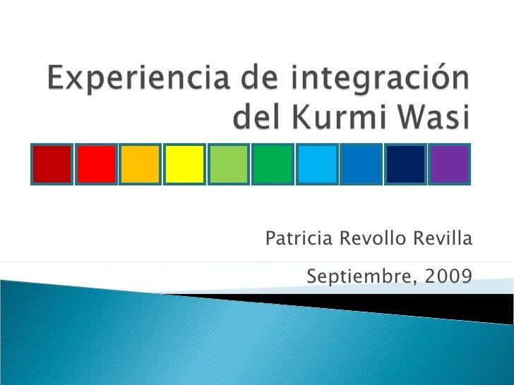 Patricia Revollo Revilla Septiembre, 2009
