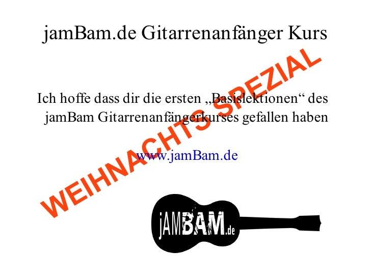 jamBam Gitarren Anfaengerkurs