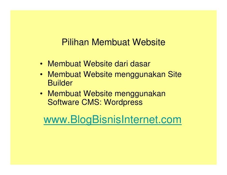 Kursus Bisnis Internet