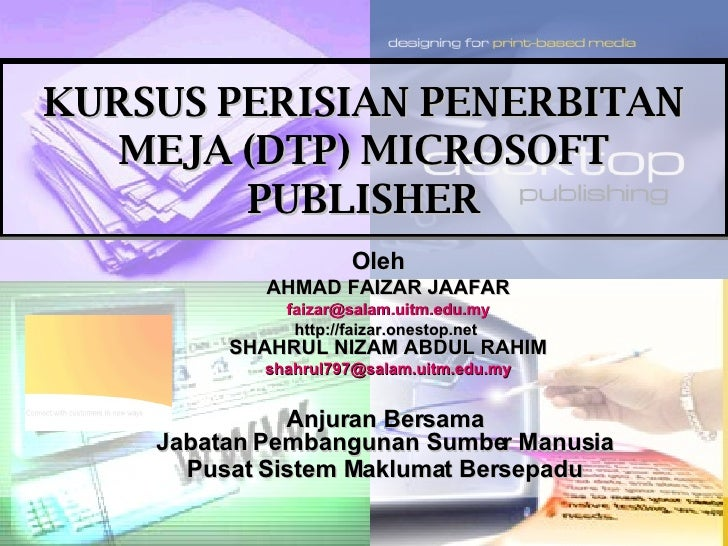 KURSUS DTP MICROSOFT PUBLISHER