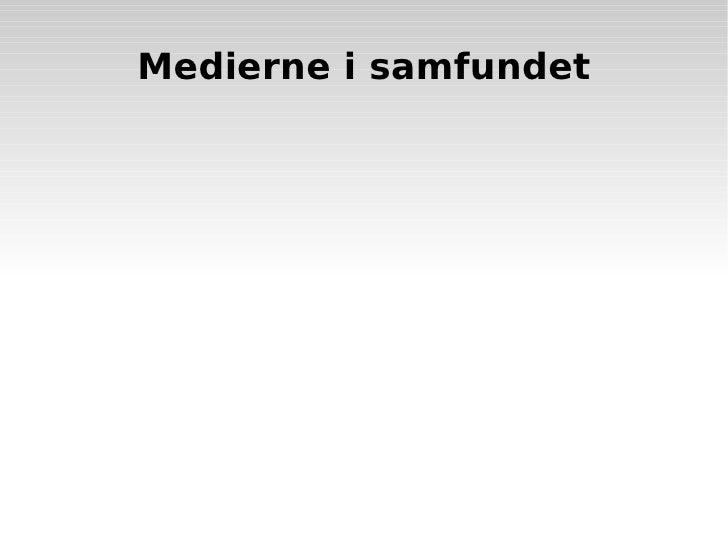 Mediesociologi 2