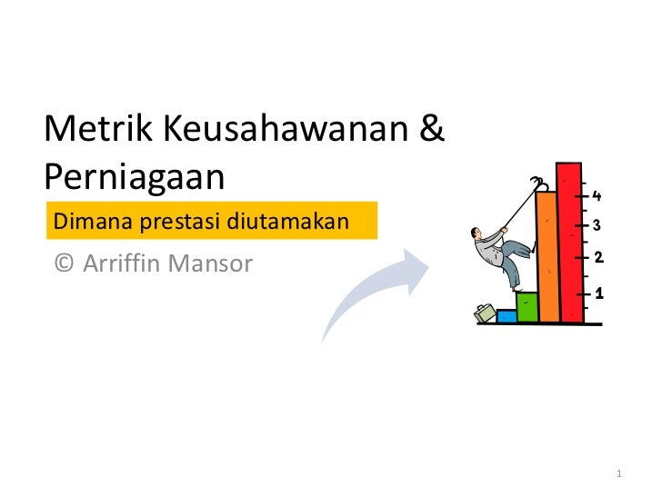 Metrik Keusahawanan &PerniagaanDimana prestasi diutamakan© Arriffin Mansor                             1