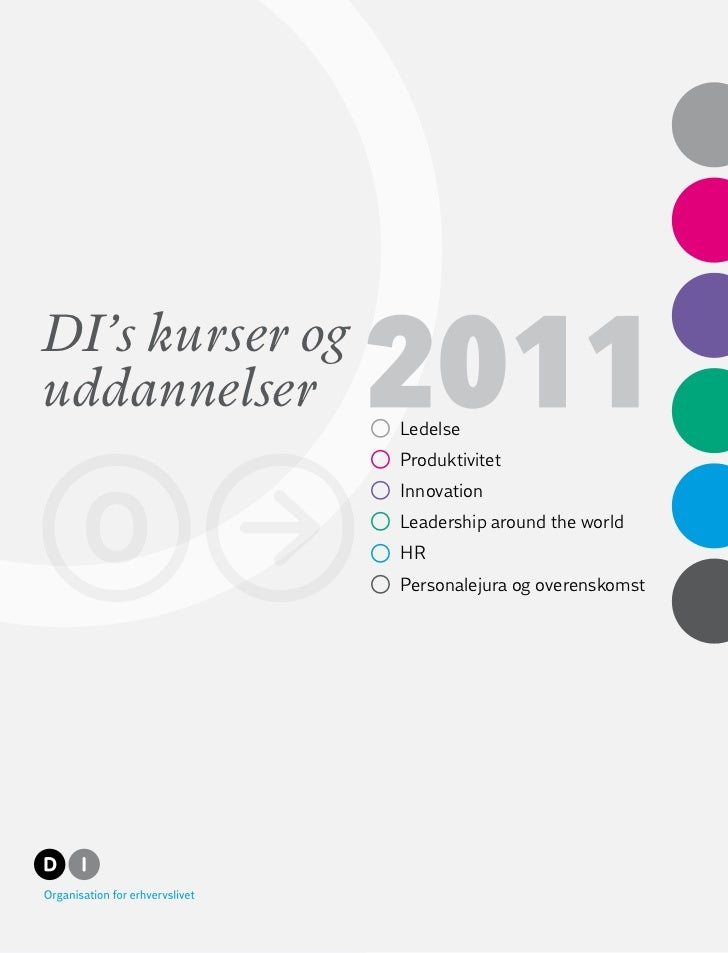 DI's kurser oguddannelser                 °   Ledelse                 °   Produktivitet                 °   Innovation    ...