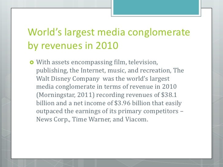 walt disney media conglomerate analysis Walt disney broadcasting swot analysis, usp & competitors posted in media & entertainment parent company the walt disney company category.