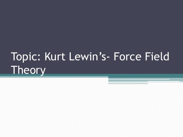 A way to map a path to your goals, using Kurt Lewin's field theory