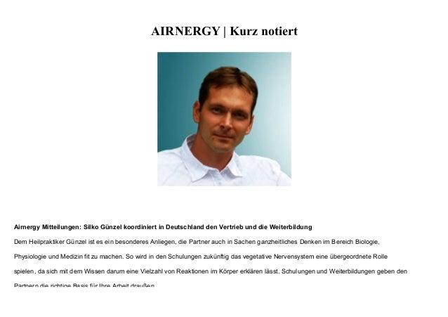 AIRNERGY | Kurz notiert Airnergy Mitteilungen: Silko Günzel koordiniert in Deutschland den Vertrieb und die Weiterbildung ...
