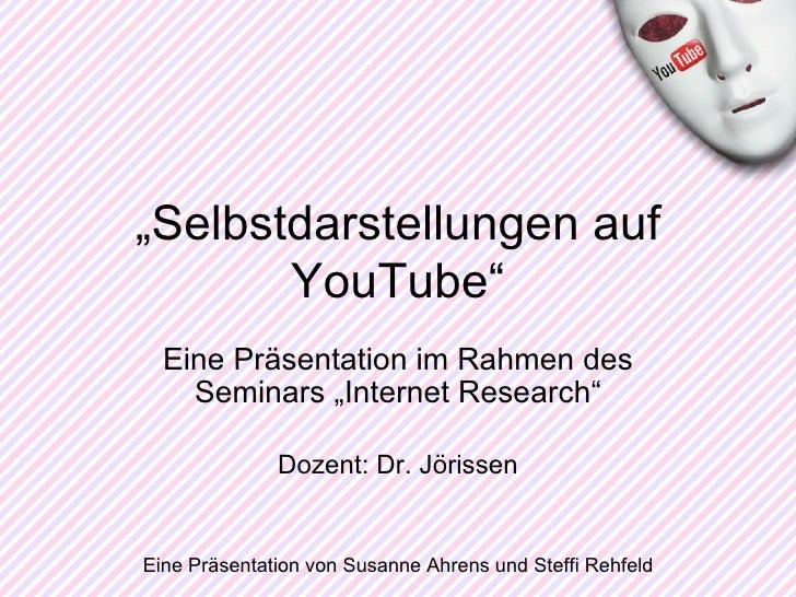 """Eine Präsentation im Rahmen des Seminars """"Internet Research"""" Dozent: Dr. Jörissen Eine Präsentation von Susanne Ahrens und..."""