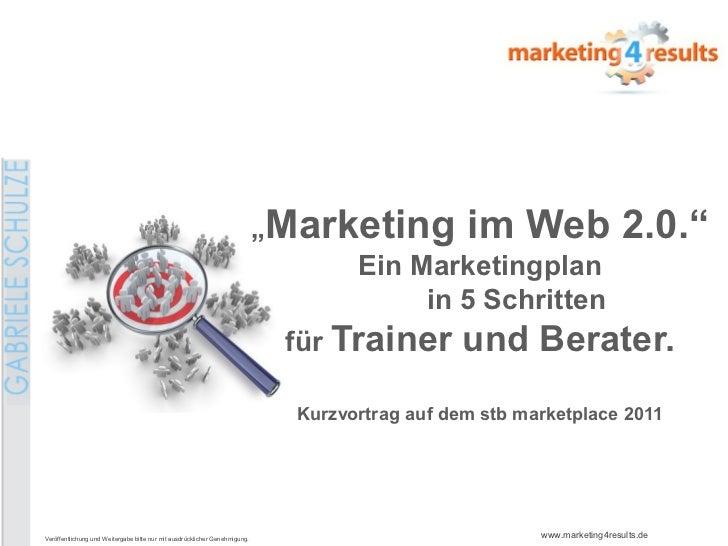 """Marketing im Web 2.0.""                                                                                    Ein Marketingpl..."