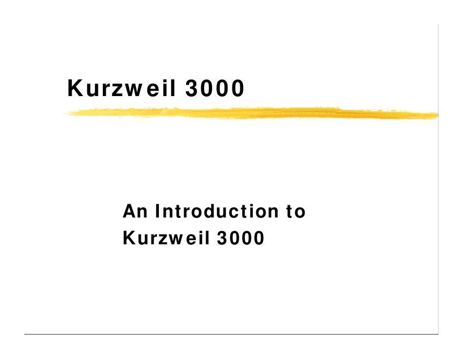 Kurzweil 3000 Overview