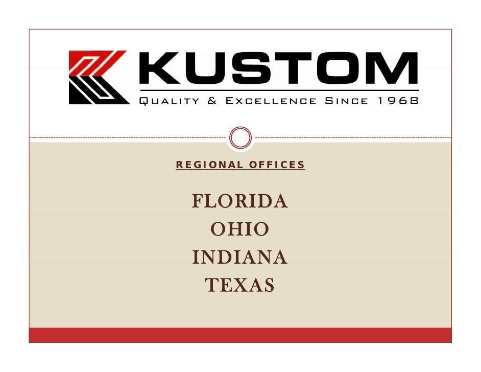 REGIONAL OFFICES      FLORIDA     OHIO   INDIANA    TEXAS