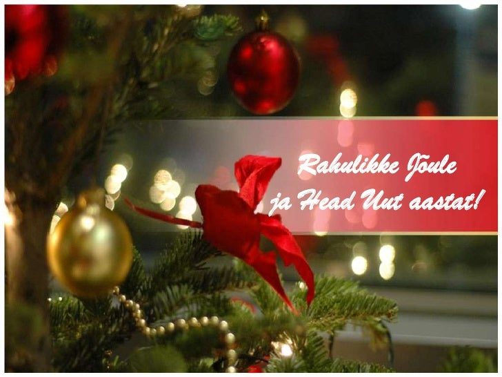Häid jõule ja Head Uut  Aastad