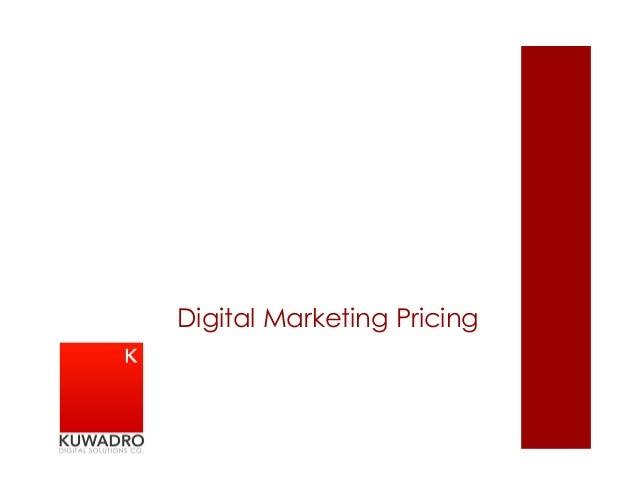 Digital Marketing Pricing