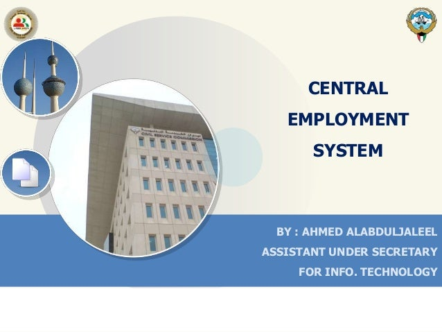 WSIS Project Prizes 2013 – C7 E-employment. E-Employment system (Civil Service Commission, State of Kuwait)