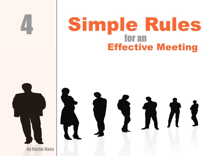 Four Simple Rules for an Effective Meeting Rules (kvaes.be)