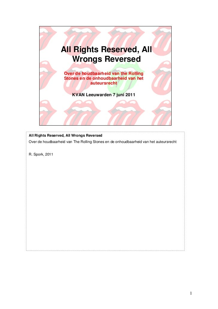 KVAN11 - All rights reserved all wrongs reversed - René Spork