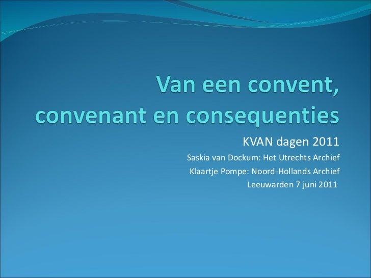 Kvan11   convent convenant consequenties - saskia van dockum en klaartje pompe