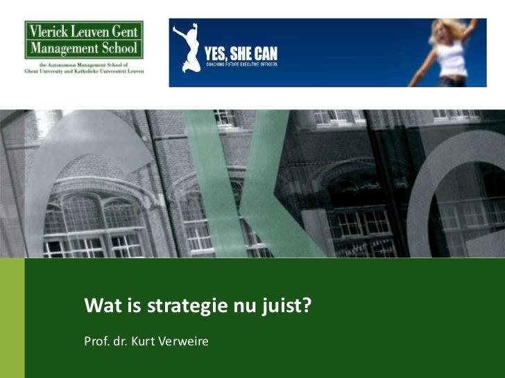 Kve wat is strategie nu juist (deelnemers)
