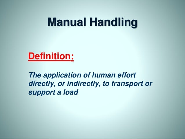 moving and handling 2 essay • moving a load over a far distance • frequent lifting (more than 12 lifts a shift) • unassisted lifting safe patient handling toolkit - 2011 edition9.