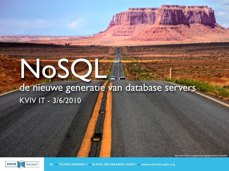 KVIV / NoSQL : the new generation of database servers